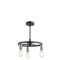Picture for category Kichler Lighting 44197MBK Chandeliers Matte Black Steel Brooklyn