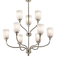 Picture for category Chandeliers 9 Light With Antique Pewter Finish Medium Base Bulb 30 inch 900 Watts