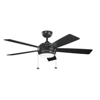 Picture for category Indoor Ceiling Fans 1 Light With Satin Black Finished MNCN Bulb 52 inch 75 Watts