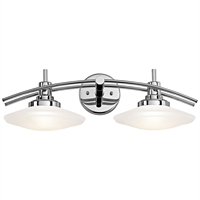 Picture for category Bathroom Vanity 2 Light With Chrome Finish Mini-Candelabra Bulb 21 inch 200 Watts