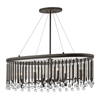 Picture for category Chandeliers 6 Light With Espresso Finish Steel Drum Candelabra Base 14 inch 360 Watts