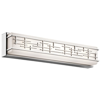 Picture for category Bathroom Vanity Light With Chrome Tones In Finished Glass Material size 24 inch