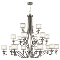 Picture for category Chandeliers 18 Light With Antique Pewter Finish Steel Candelabra 62 inch 1080 Watts