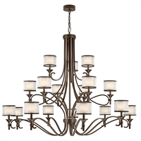 Picture for category Chandeliers 18 Light With Mission Bronze Finish Steel Candelabra 62 inch 1080 Watts