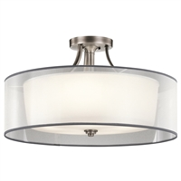 Picture for category Semi Flush 5 Light With Antique Pewter Finish Steel Material Medium 28 inch 500 Watts