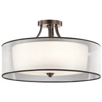 Picture for category Semi Flush 5 Light With Mission Bronze Finish Steel Material Medium 28 inch 500 Watts