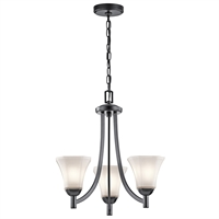 Picture for category Chandeliers 3 Light With Black Finish Steel Drum Material Medium 20 inch 300 Watts