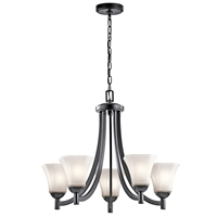 Picture for category Chandeliers 5 Light With Black Finish Steel Drum Material Medium 25 inch 500 Watts