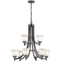 Picture for category Chandeliers 9 Light With Black Finish Steel Drum Material Medium 30 inch 900 Watts