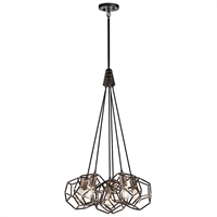 Picture for category Pendants 6 Light With Raw Steel Drum Finish Steel Drum Material Medium 23 inch 600 Watts