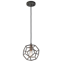 "Picture for category Mini Pendants 1 Light Fixtures With Raw Steel Finish Steel Material Medium Bulb 8"" 100 Watts"