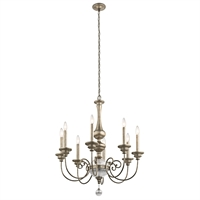 Picture for category Chandeliers 8 Light With Sterling Gold Finish Steel Candelabra 32 inch 480 Watts