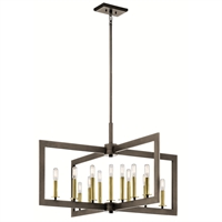 Picture for category Chandeliers 13 Light With Olde Bronze Finish Steel Candelabra 39 inch 780 Watts