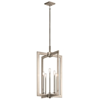 Picture for category Pendants 5 Light With Classic Pewter Finish Steel Drum Candelabra Base 18 inch 300 Watts