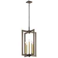 Picture for category Pendants 5 Light With Olde Bronze Finish Steel Drum Candelabra Base 18 inch 300 Watts
