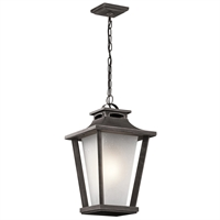 Picture for category Outdoor Pendant 1 Light With Weathered Zinc Finish Aluminum Medium 12 inch 100 Watts