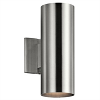 "Picture for category Wall Sconces 2 Light Fixtures With Brushed Aluminum Finish Aluminum Material Medium Bulb 5"" 130 Watts"
