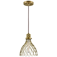 Picture for category Mini Pendants 1 Light With Natural Brass Finish Steel Material Medium 8 inch 100 Watts
