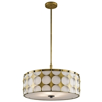 Picture for category Pendants 4 Light With Natural Brass Finish Steel Material Medium 21 inch 400 Watts