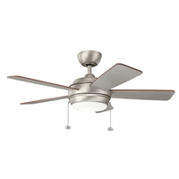 Picture for category Indoor Ceiling Fans Light With Brushed Nickel Tone Finish Steel Material 42 inch