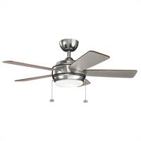 Picture for category Indoor Ceiling Fans Light With Polished Nickel Tone Finish Steel Material 42 inch
