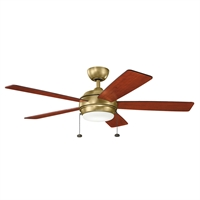 Picture for category Indoor Ceiling Fans Light With Natural Brass Tone Finish Steel Material 52 inch
