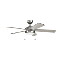 Picture for category Indoor Ceiling Fans Light With Polished Nickel Tone Finish Steel Material 52 inch