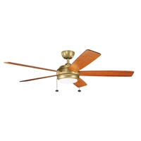 Picture for category Indoor Ceiling Fans Light With Natural Brass Tone Finish Steel Material 60 inch