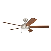 Picture for category Indoor Ceiling Fans Light With Brushed Nickel Tone Finish Steel Material 60 inch