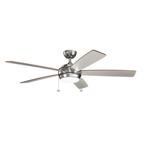 Picture for category Indoor Ceiling Fans Light With Polished Nickel Tone Finish Steel Material 60 inch
