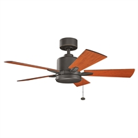 Picture for category Indoor Ceiling Fans Light With Olde Bronze Tone Finished Steel Material 42 inch