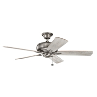 Picture for category Indoor Ceiling Fans Light With Burnished Antique Pewter Tone Finish Steel Material 52 inch