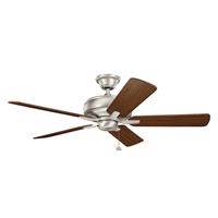 Picture for category Indoor Ceiling Fans Light With Brushed Nickel Tone Finish Steel Material 52 inch