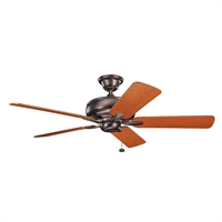 Picture for category Indoor Ceiling Fans Light With Oil Brushed Bronze Tone Finish Steel Material 52 inch