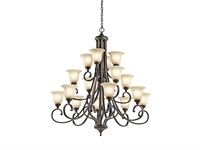 Picture for category Chandeliers 16 Light With Olde Bronze Finish Medium Base Bulb 45 inch 1200 Watts