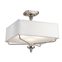 Picture for category Semi Flush 3 Light With Classic Pewter Finish Steel Material Medium 15 inch 300 Watts