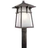 Picture for category Outdoor Post 1 Light With Weathered Zinc Finish Aluminum Medium 12 inch 150 Watts