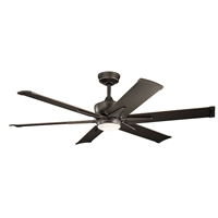 Picture for category Indoor Ceiling Fans 1 Light With Olde Bronze Finish Steel Drum LED 60 inch 17 Watts