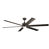Picture for category Indoor Ceiling Fans 1 Light With Olde Bronze Finish Steel Drum LED 80 inch 17 Watts