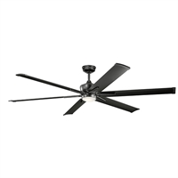 Picture for category Indoor Ceiling Fans 1 Light With Satin Black Finish Steel Drum LED 80 inch 17 Watts