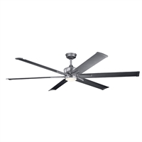 Picture for category Indoor Ceiling Fans 1 Light With Weathered Steel Powder Coat Finish Steel LED 80 inch 17 Watts