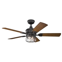 Picture for category Indoor Ceiling Fans 3 Light With Distressed Black Finish Steel Candelabra 52 inch 120 Watts