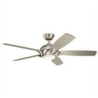 Picture for category Indoor Ceiling Fans 1 Light With Brushed Stainless Steel Finish Steel LED 54 inch 17 Watts