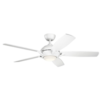 Picture for category Indoor Ceiling Fans 1 Light With Matte White Finish Steel Drum LED 54 inch 17 Watts