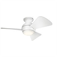 Picture for category RLA Kichler RL-161907 Indoor Ceiling Fans Matte White Steel Sola