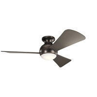 Picture for category Indoor Ceiling Fans 1 Light With Olde Bronze Finish Steel Drum LED 44 inch 17 Watts