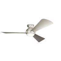 Picture for category Indoor Ceiling Fans 1 Light With Brushed Nickel Finish Steel LED 54 inch 17 Watts