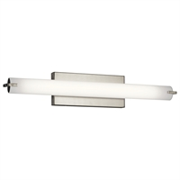 "Picture for category Bathroom Vanity 1 Light Fixtures With Brushed Nickel Finish Steel Material LED Bulb 26"" 19 Watts"