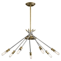 Picture for category Chandeliers 7 Light With Natural Brass Finish Steel Candelabra 24 inch 420 Watts