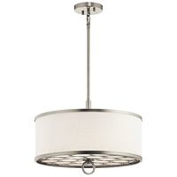 Picture for category Semi Flush 3 Light With Brushed Nickel Finish Steel Material Medium 18 inch 300 Watts